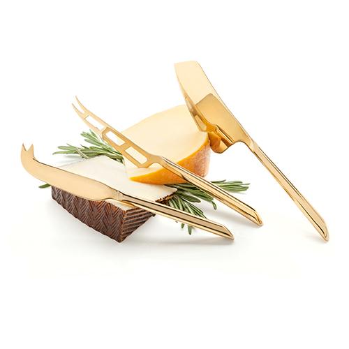 Belmont Gold Plated Knife Set By Viski (Set of 3)