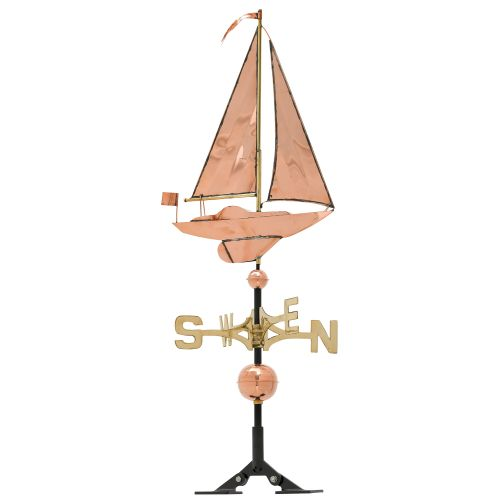 Classic Directions Polished Copper Sailboat Wv, Polished