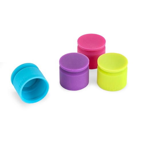 TrueCap Set of 4 Jewel Tone Bottle Stoppers