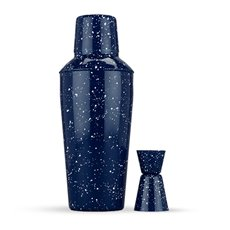 Enamel Cocktail Shaker and Jigger Set by Foster and Rye