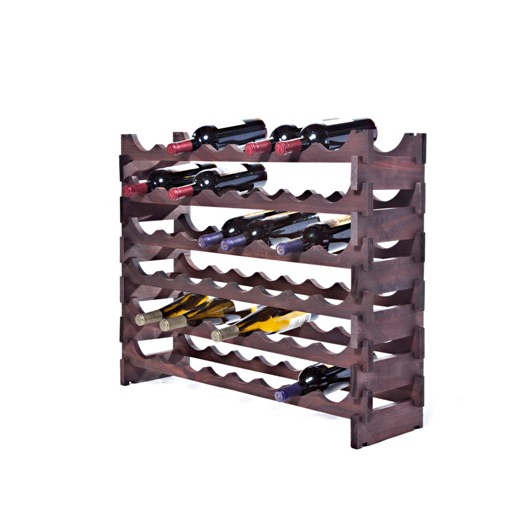 48 Bottle Stackable Wooden Wine Rack - Stained