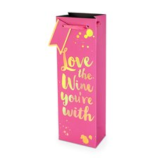 Love The Wine You're With 750ml Bottle Bag By Cakewalk