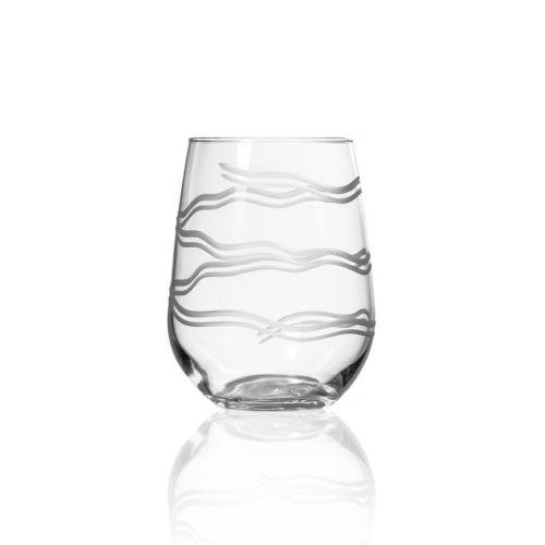 Good Vibrations Stemless Glasses 17 oz Set of 4