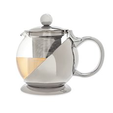Shelby Stainless Steel Wrapped Teapot and Infuser by Pinky Up