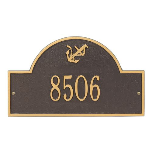 Personalized Anchor Arch Plaque, Bronze / Gold
