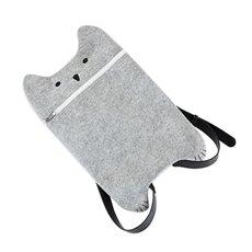 Grey Felt Cat Bag