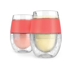 Wine Freeze Cooling Cups In Coral (Set Of 2) By Host