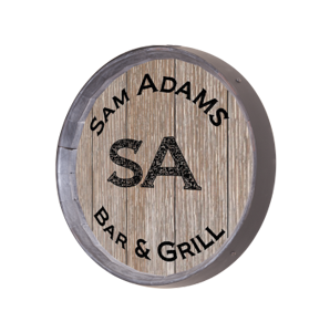 Personalized Large Two Initials Barrel Sign