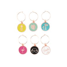Palm Springs Wine Charms By Blush (Set of 6)