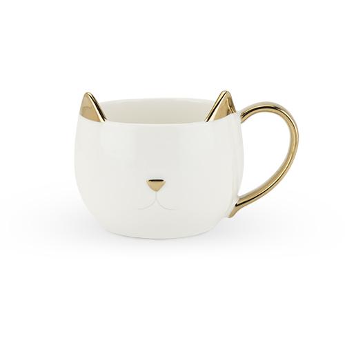 Chloe White Cat Mug