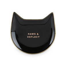 Paws and Reflect: Black Cat Tea Tray