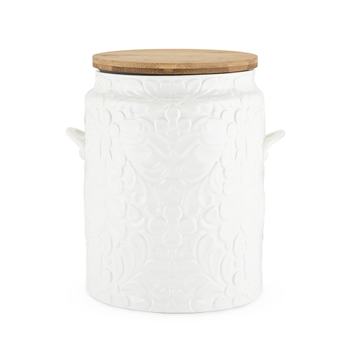 Pantry: Textured Ceramic Cookie Jar by Twine