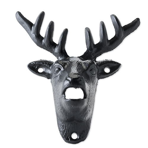 Cast Iron Wall Mounted Deer Bottle Opener by Foster and Rye