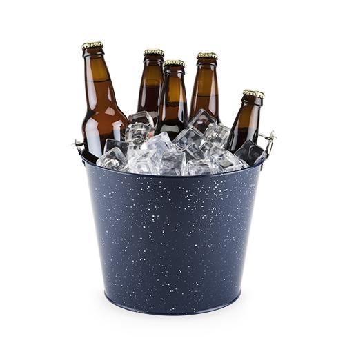 Blue Enamel Beer Bucket