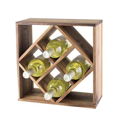 Rustic Farmhouse: Acacia Wood Lattice Wine Rack by Twine