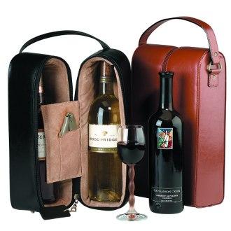 Genuine Leather Double Wine Presentation Case