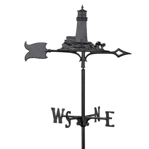 "30"" Lighthouse Weathervane, Black"