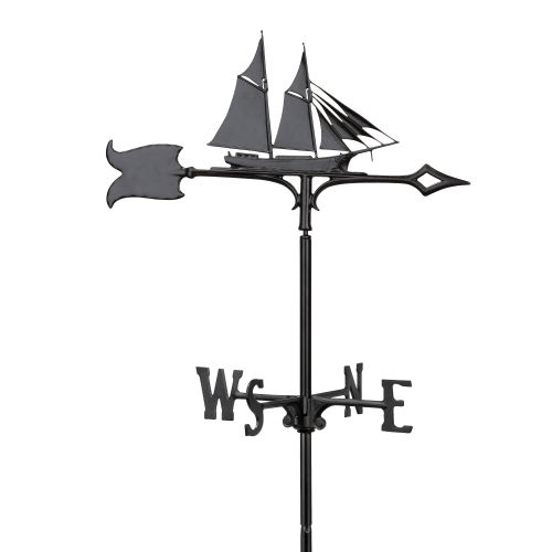 "30"" Schooner Weathervane, Black"