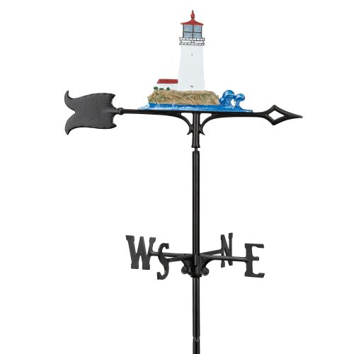 "30"" Lighthouse Weathervane, Multi-Colored"