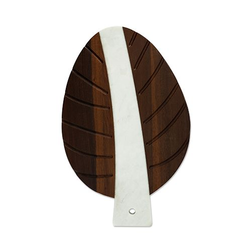 Pacific: Marble and Wood Leaf Tray