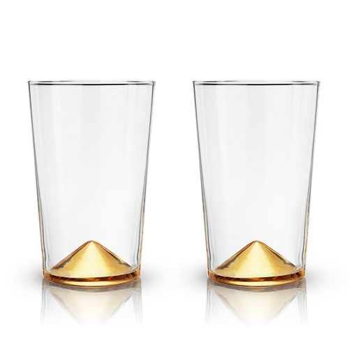 Belmont: Gold Pointed Cocktail Tumblers