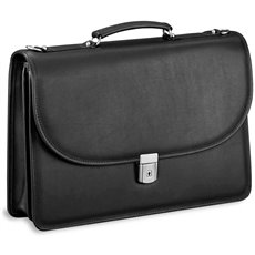 Platinum Dble Gusset Flap with Key Lock