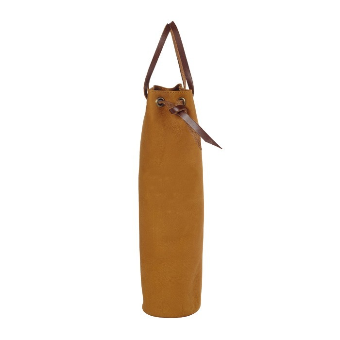 Leather One Bottle Wine Pouch