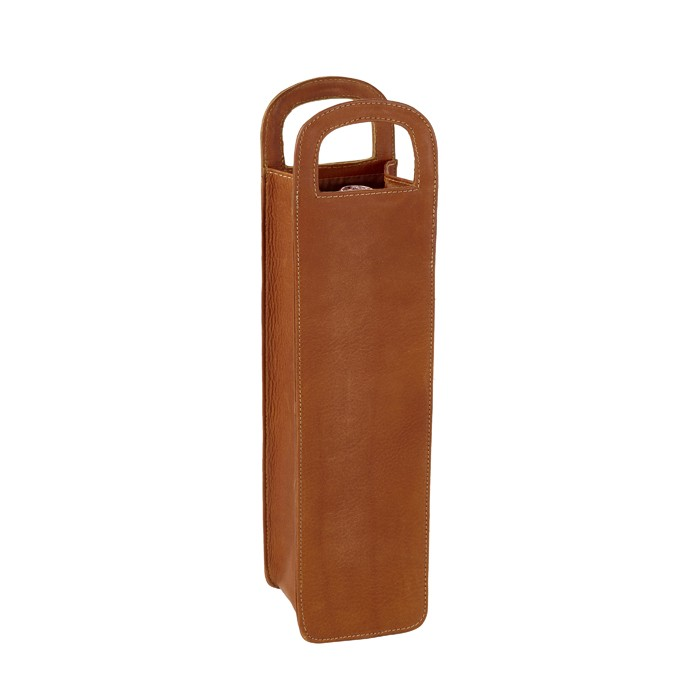 Leather One Bottle Wine Carrier