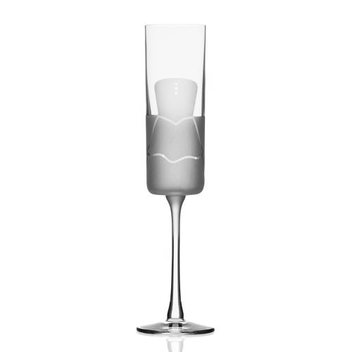 Wedding Cheers Series 2 (dress/tux) Champagne Flute 5.75 oz Set of 2