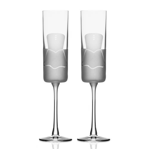 Wedding Cheers Series 2 (dress/dress) Champagne Flute 5.75 oz Set of 2