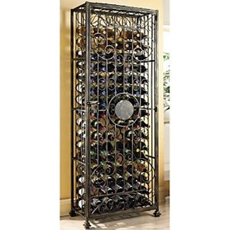 96 Bottle Antiqued Steel Wine Jail