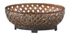 Uttermost Teneh Lattice Weave Design Bowl