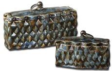 Uttermost Neelab Ceramic Containers, Set/2