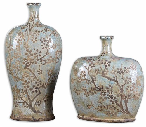 Uttermost Citrita Decorative Ceramic Vases Set/2