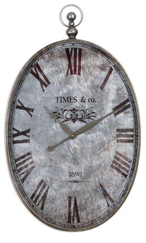 Uttermost Argento Antique Wall Clock