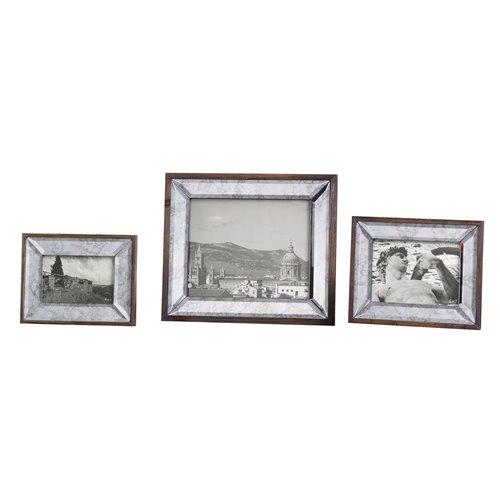 Uttermost Daria Antique Mirror Photo Frames S/3