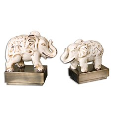 Uttermost Maven Elephant Sculptures, S/2
