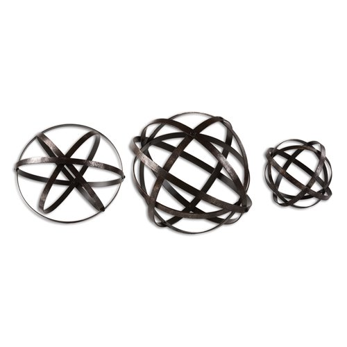 Uttermost Stetson Bronze Spheres S/3