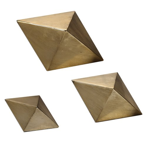 Uttermost Rhombus Champagne Accents, S/3