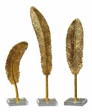 Uttermost Feathers Gold Sculpture S/3