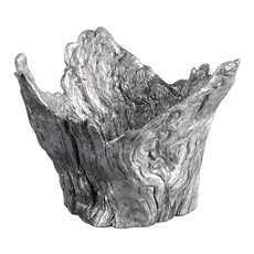 Uttermost Massimo Wood Textured Silver Bowl