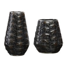 Uttermost Kapil Tortoise Shell Vases S/2