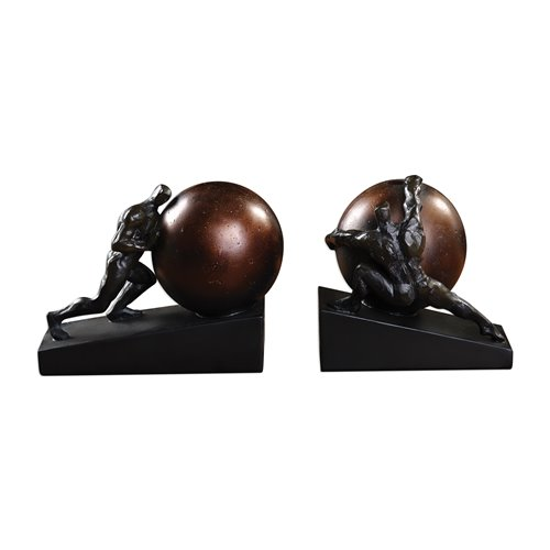 Uttermost Weight Of The World Bookends S/2