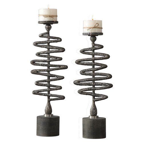 Uttermost Zigzag Candleholders S/2