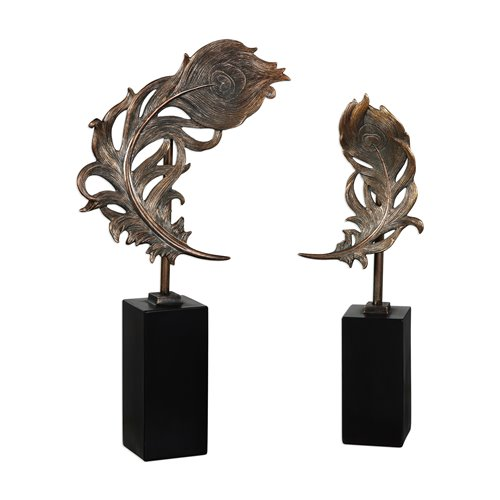 Uttermost Quill Feathers Sculpture S/2