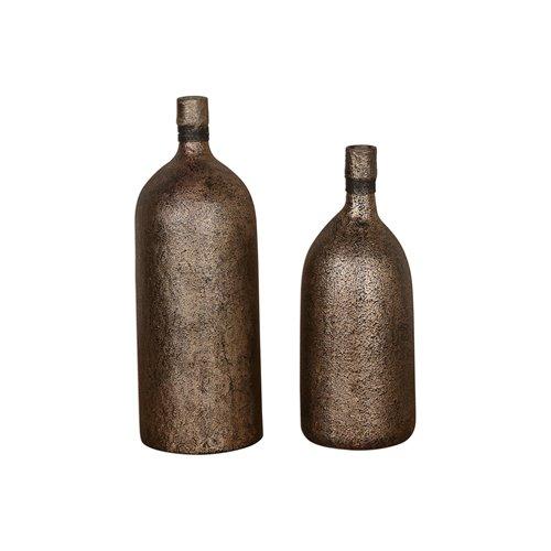 Uttermost Biren Textured Antiqued Gold Vases Set/2