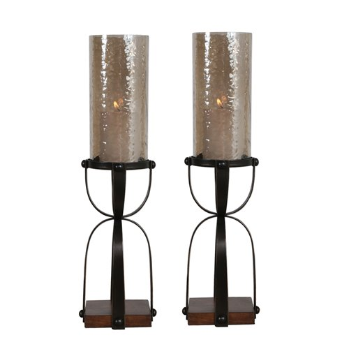Uttermost Arka Dark Bronze Candleholders Set/2