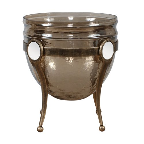 Uttermost Asmita Gold Glass Bowl