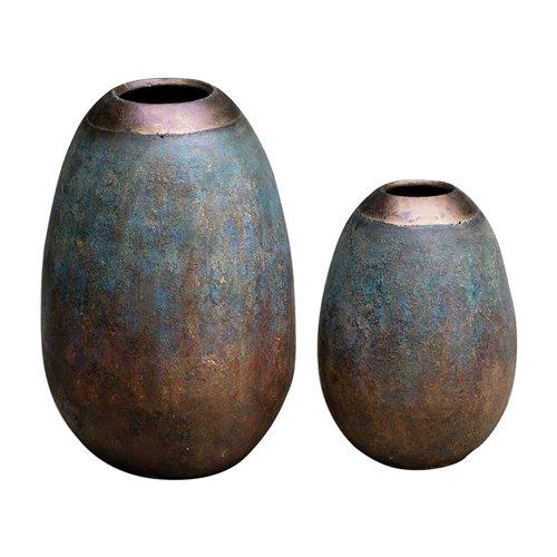 Uttermost Pavak Etruscan Sky Vases S/2
