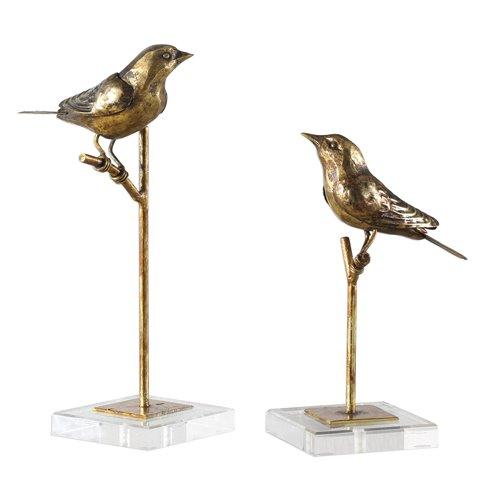Uttermost Passerines Bird Sculptures S/2